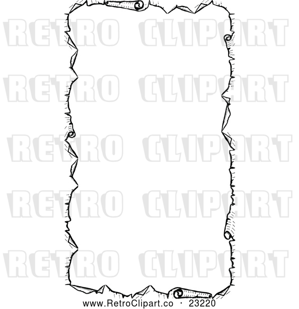 Vector Clip Art of Retro Parchment Paper Border