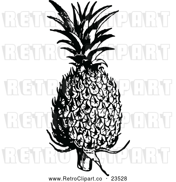 Vector Clip Art of Retro Pineapple