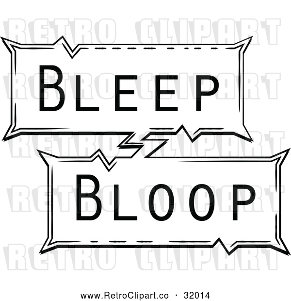 Vector Clip Art of Retro Pop Art Comic Styled Bleep Bloop Sound Effect