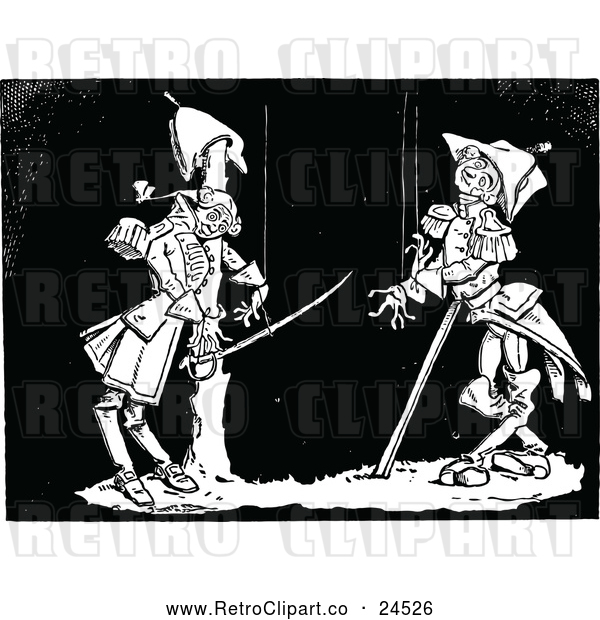 Vector Clip Art of Retro Puppet Soldiers