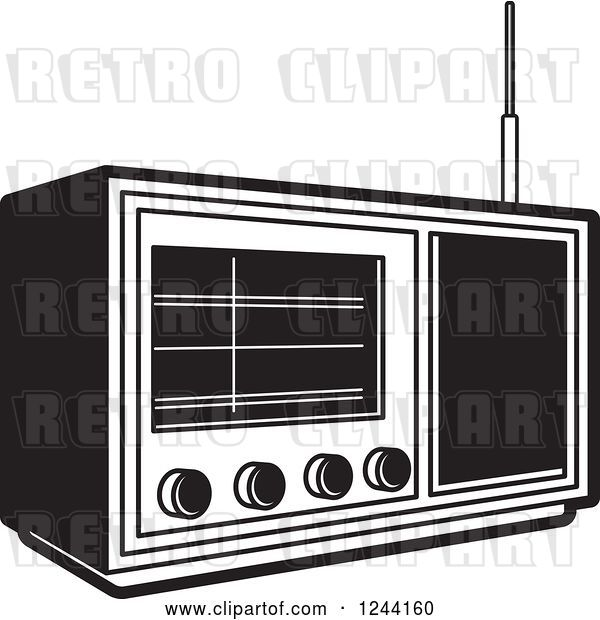 Vector Clip Art of Retro Radio 2