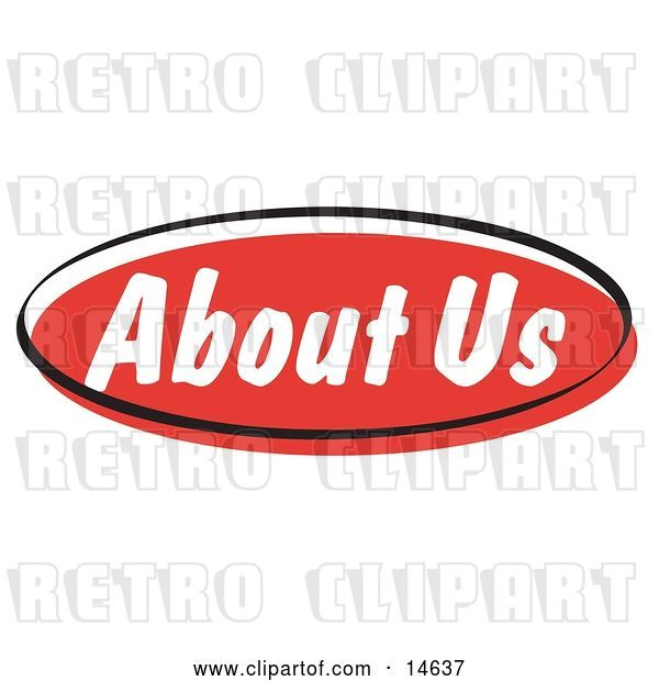 Vector Clip Art of Retro Red About Us Internet Website Button