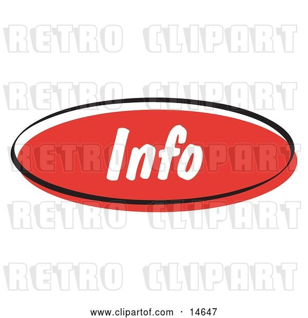 Vector Clip Art of Retro Red Info Internet Website Button