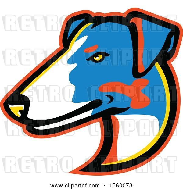 Vector Clip Art of Retro Smooth Fox Terrier Dog Mascot