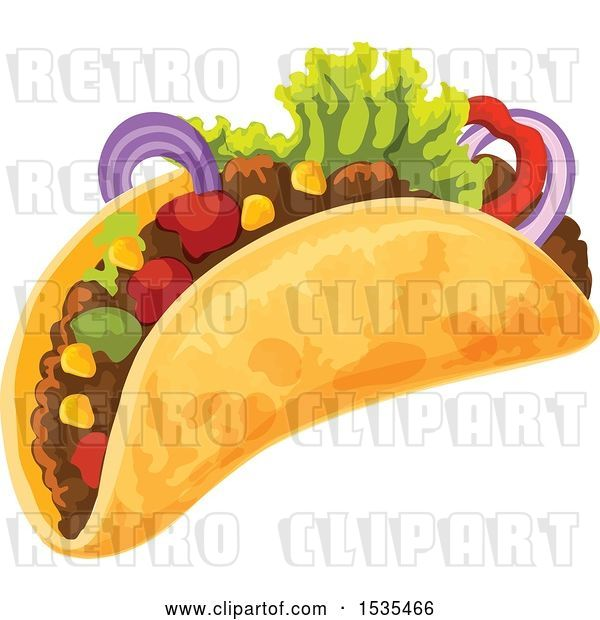 Vector Clip Art of Retro Taco