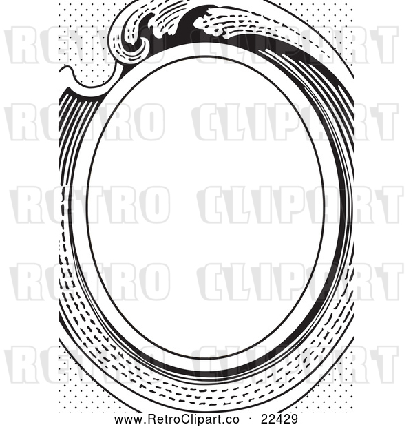 Vector Clip Art of Retro Victorian Oval Frame