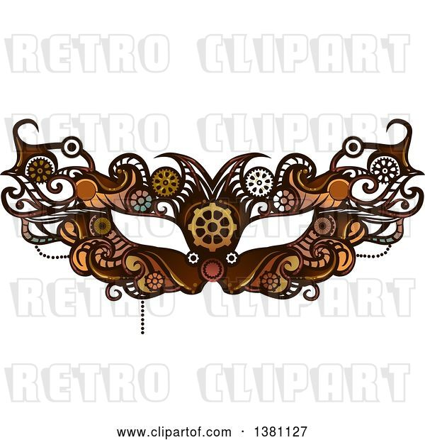 Vector Clip Art of Retro Victorian Steampunk Eye Mask