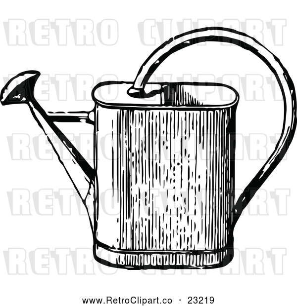 Vector Clip Art of Retro Watering Can