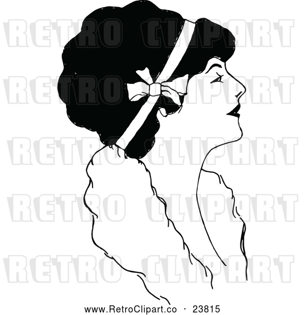 Vector Clip Art of Retro Woman