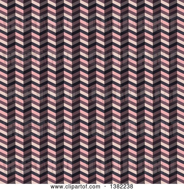 Vector Clip Art of Retro Zig Zag Pattern in Pink and Brown Tones