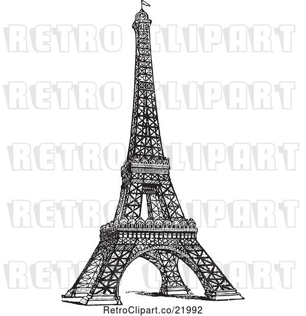 Vector Clip Art of Styled Eiffel Tower