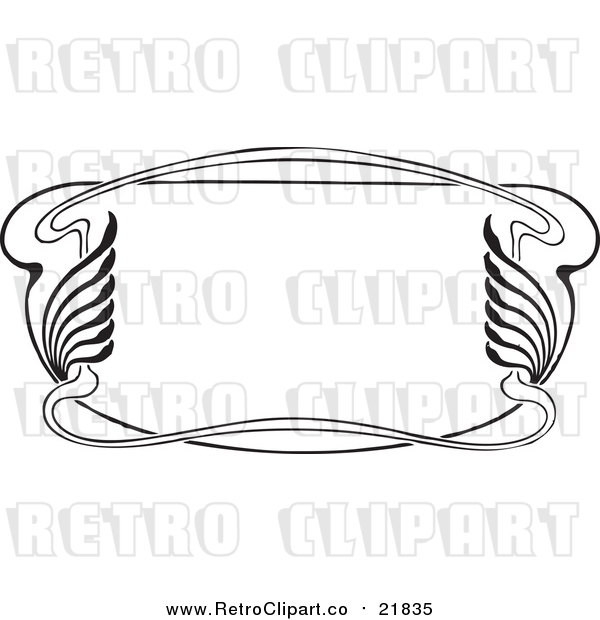 Vector Clipart of a Retro Art Deco Styled Border