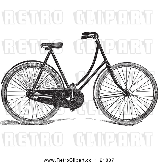Vector Clipart of a Retro Bicycle