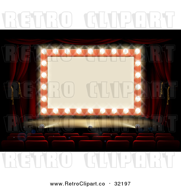 Vector Clipart of a Retro Marquee Theater Sign