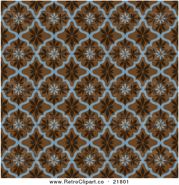 Vector Clipart of a Seamless Leaf Pattern