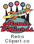 Clip Art Atomic Billiards Rocket Sign Royalty Free Retro Vector by Andy Nortnik