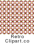 Retro Background of a Brown White and Pink Floral Pattern Royalty Free Clipart by KJ Pargeter