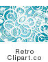 Retro Background of White Grunge Circles over Blue Royalty Free Clipart by KJ Pargeter