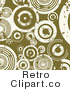 Retro Background of White Grunge Circles over Green Royalty Free Clipart by KJ Pargeter