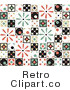 Retro Royalty Free Quilted Pattern Vector Clipart by Steve Klinkel