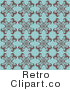 Royalty Free Retro Antique Blue Background with a Floral Design by KJ Pargeter
