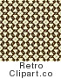 Royalty Free Retro Beige and Brown Patterned Design Background by KJ Pargeter