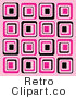 Royalty Free Retro Black and Pink Square Patterns by KJ Pargeter