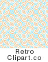 Royalty Free Retro Blue and Orange Swirls with Diamonds Background by Arena Creative
