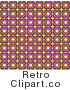 Royalty Free Retro Brown and Pink Floral Wallpaper by KJ Pargeter