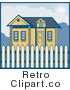 Royalty Free Retro House with a Picket Fence by Patrimonio