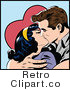 Royalty Free Retro Kissing Pop Art Couple by Brushingup