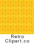 Royalty Free Retro Orange and Yellow Repeat Pattern Background by KJ Pargeter