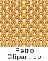 Royalty Free Retro Pattern of White Yellow and Brown Arches by KJ Pargeter