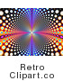 Royalty Free Retro Psychedelic Funky Background with Colorful Retro Circles Leading and Reflecting into the Distance by ShazamImages