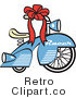 Royalty Free Retro Vector Clip Art of a Bicycle by Andy Nortnik