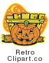 Royalty Free Retro Vector Clip Art of a Jackolantern by Andy Nortnik