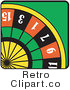 Royalty Free Retro Vector Clip Art of a Roulette Wheel by Andy Nortnik