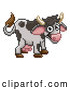 Vector Clip Art of a Cow - Pixelized Retro 8-Bit Cartoon Style by AtStockIllustration