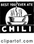 Vector Clip Art of a Retro 'Best You Ever Ate Chili' Sign by BestVector
