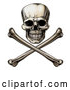 Vector Clip Art of a Retro Jolly Roger Skull with Crossbones by AtStockIllustration