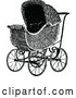 Vector Clip Art of Retro Baby Pram by Prawny Vintage