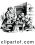 Vector Clip Art of Retro Children Baking with Their Mom by Prawny Vintage
