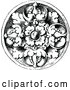 Vector Clip Art of Retro Floral Medallion Design by Prawny Vintage
