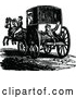 Vector Clip Art of Retro Footman and Horse Drawn Carriage by Prawny Vintage