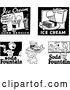 Vector Clip Art of Retro Ice Cream and Soda Fountain Signs by BestVector