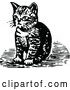 Vector Clip Art of Retro Kitten Sitting by Prawny Vintage