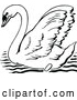 Vector Clip Art of Retro Mute Swan by Prawny Vintage