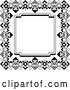 Vector Clip Art of Retro Ornate Art Deco Frame by AtStockIllustration