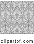 Vector Clip Art of Retro Ornate Gray Seamless Islamic Pattern Background by AtStockIllustration