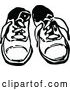 Vector Clip Art of Retro Pair of Childrens Shoes by Prawny Vintage